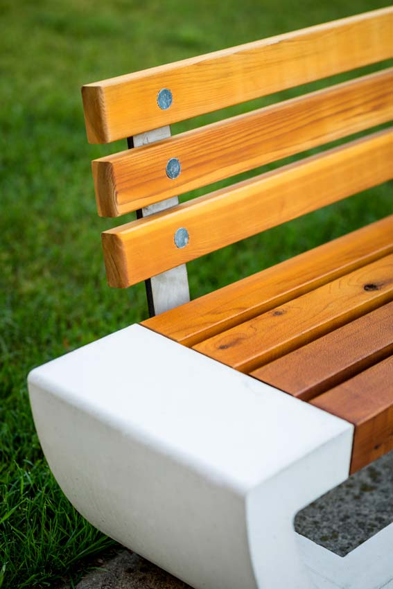 Cast Bench with Backrest