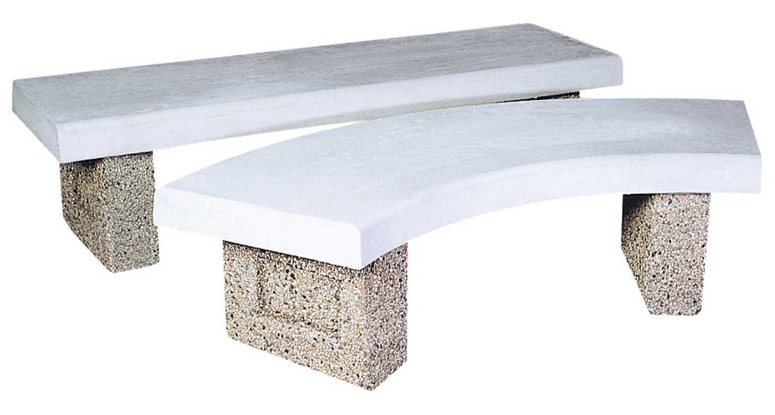 Superb Concrete Benches Barkman Home Interior And Landscaping Fragforummapetitesourisinfo