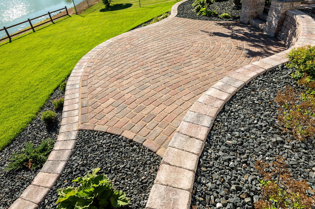 Cobble Paver Patio