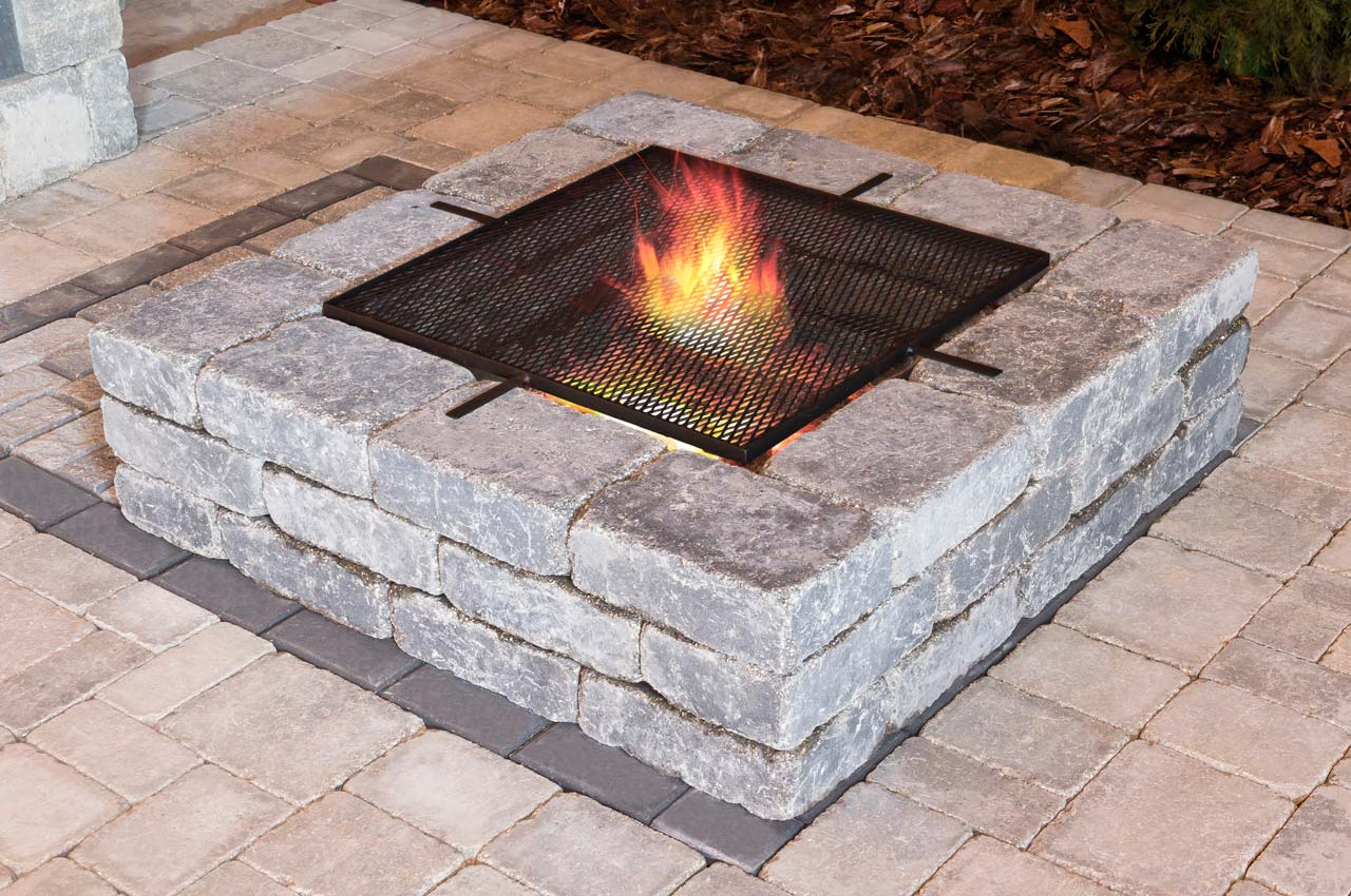 Stone Oasis Square Firepit