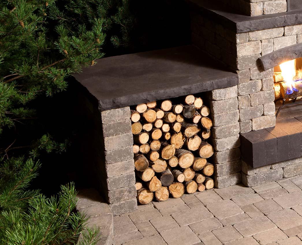 stone oasis wood storage