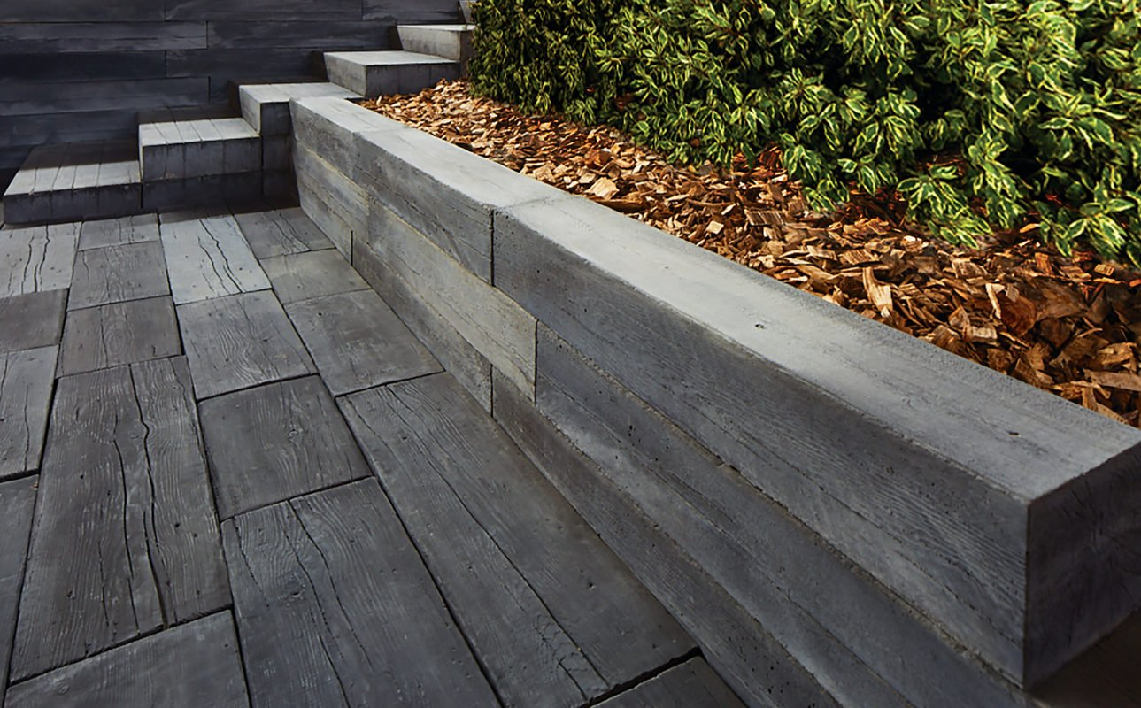 Bridgewood Slab Patio, With Bridgewood Steps And Bridgewood Wall Garden Box