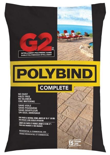 A bag of Polybind Complete G2 Polymeric Sand