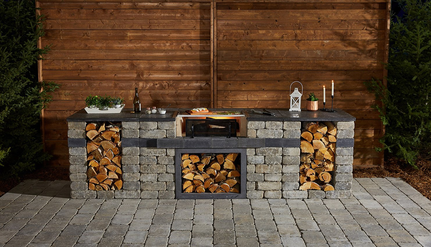 Quarry Stone Wood Grill Create Your Own Camping Cooking Experience Barkman Concrete