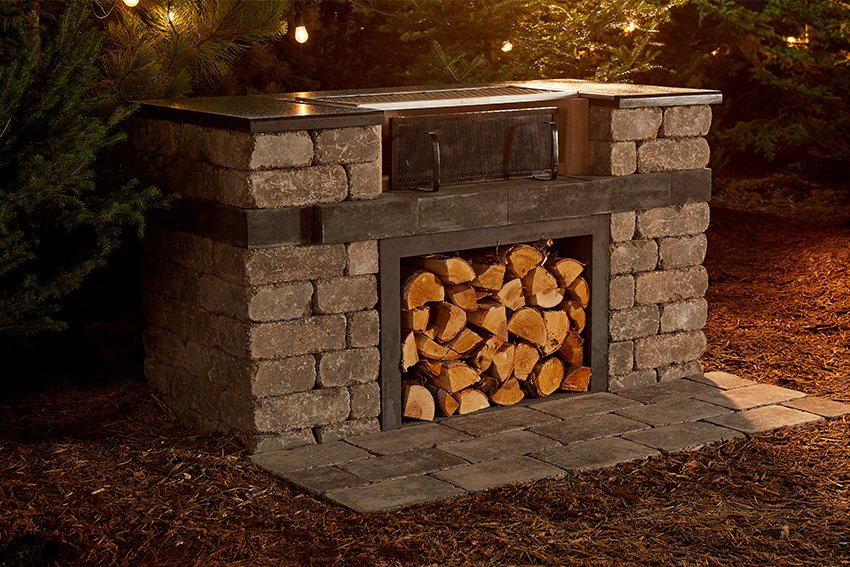 Quarry Stone Wood Grill