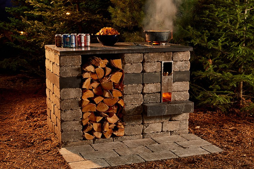 Quarry Stone Rocket Stove